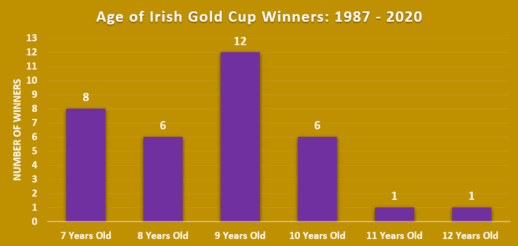 Chart Showing Ages of Irish Gold Cup Winners Between 1987 and 2020