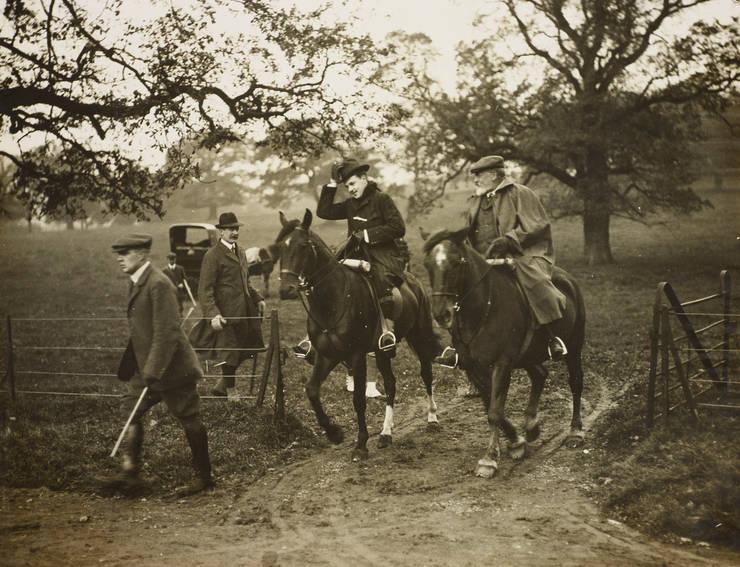 King Edward VII and King Manuel II at Great Windsor Park