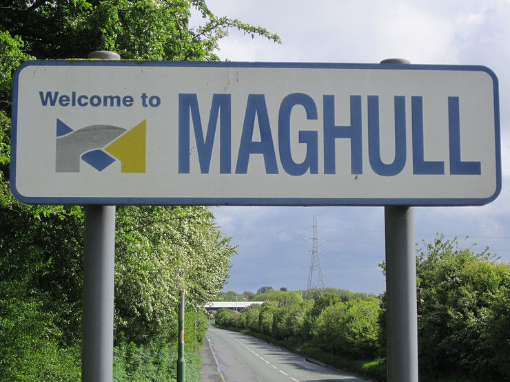 Welcome to Maghull Road Sign