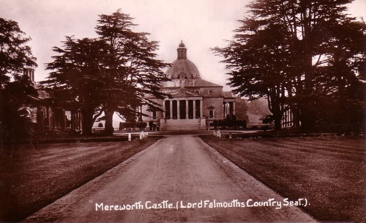 Postcard of Mereworth Castle