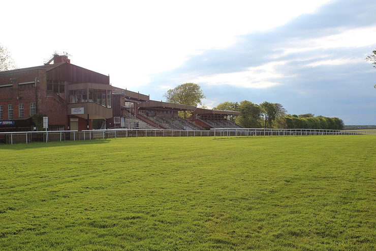 Grandstands by the Winning Line at Newmarket's July Course