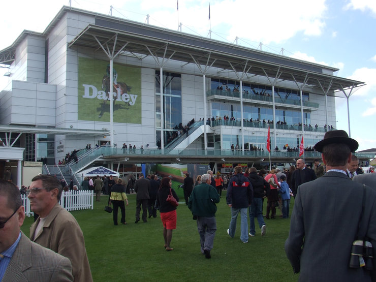 Newmarket's Millennium Grandstand Viewed from Parade Ring