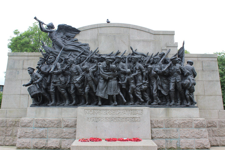 Memorial to the Northumberland Fusiliers in Newcastle
