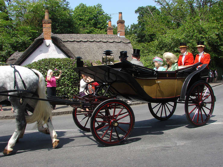 The Queen's Landau on Way to Royal Ascot