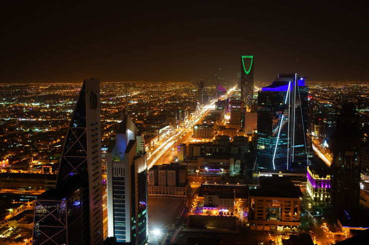 Riyadh City Skyline at Night