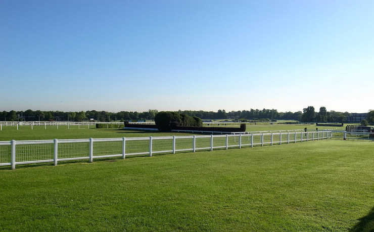 Fences at Sandown Racecourse