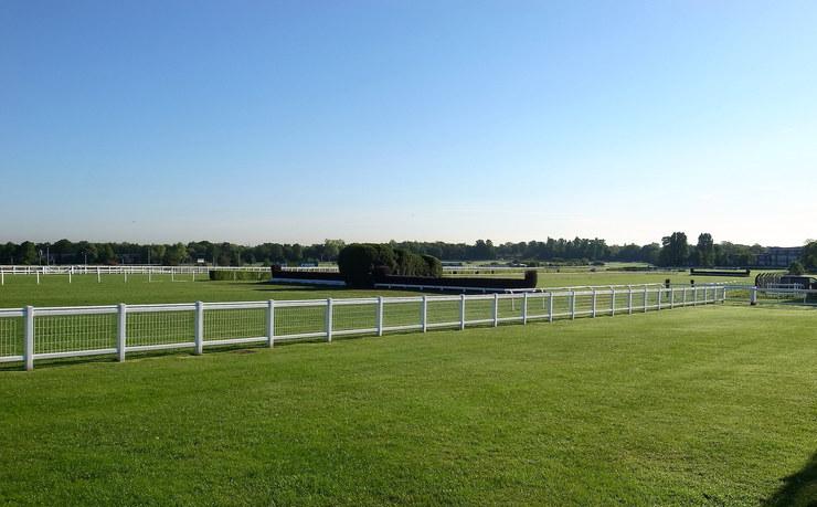 Fences at Sandown Racecourse
