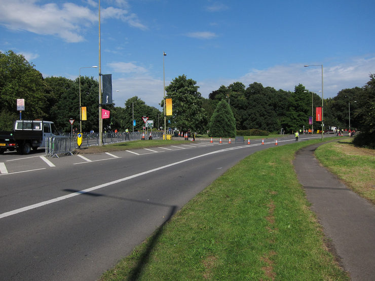 Scilly Isles Roundabout in Esher, Surrey