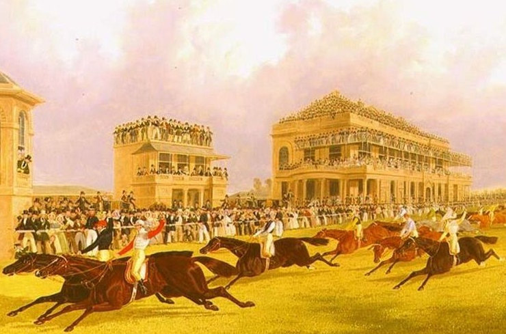 Painting of the 1899 St Leger at Doncaster