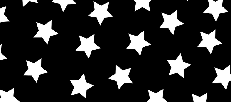 White Stars on a Black Background