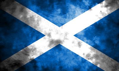 Worn Scotland Flag