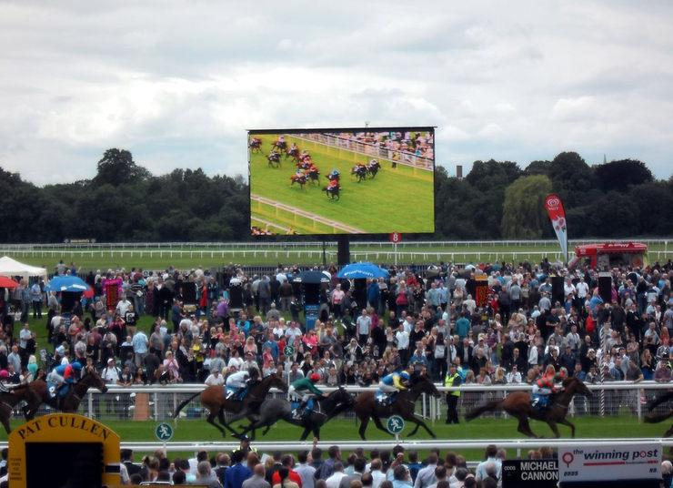 Horse Race Finish at York