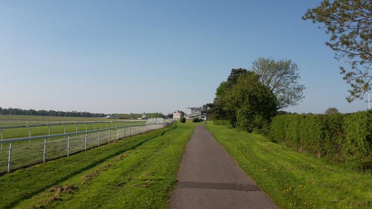 Approach to York Racecourse