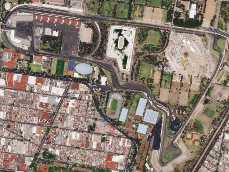Aerial View of the Mexican Grand Prix Track