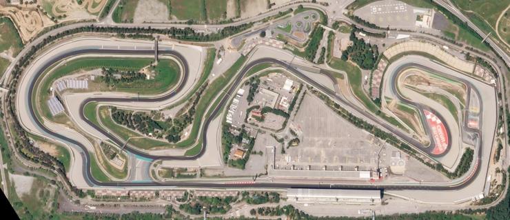 Circuit de Barcelona-Catalunya Aerial View