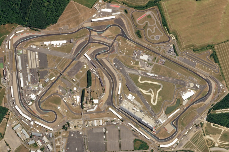Aerial View of the Silverstone Circuit, home of the British Grand Prix