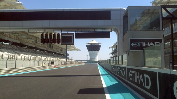 The Grand Prix at Yas Marina Circuit