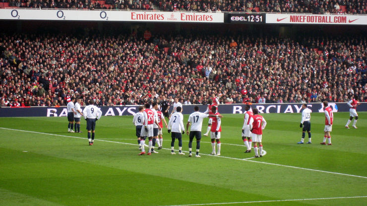 Arsenal v Tottenham at the Emirates Stadium