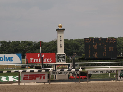 Belmont Park Finish Line