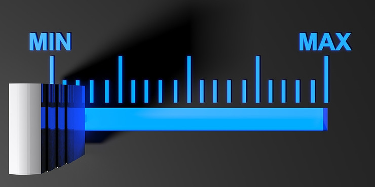 Blue Level Selector on Minimum