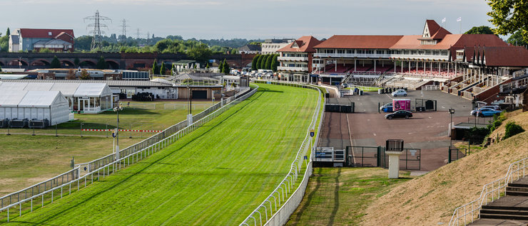 Chester Racecourse Track and Stands