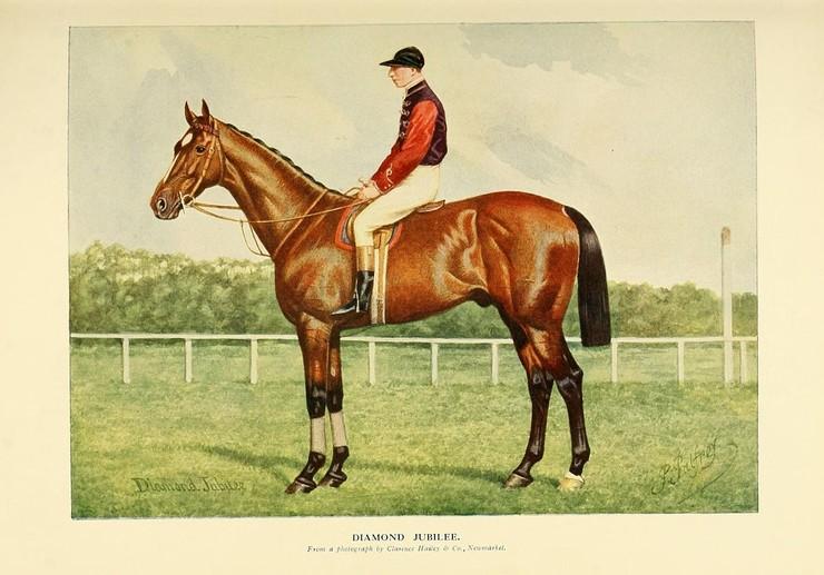 Painting of Triple Crown Winner Diamond Jubilee by Richardson, Charles