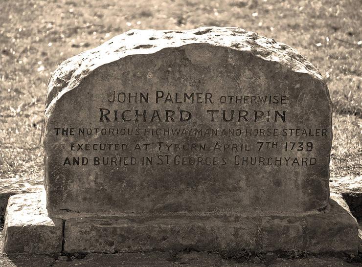 Dick Turpin's Gravestone in York