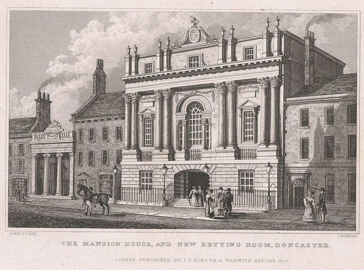 Illustration of the Doncaster Mansion House and Betting Rooms