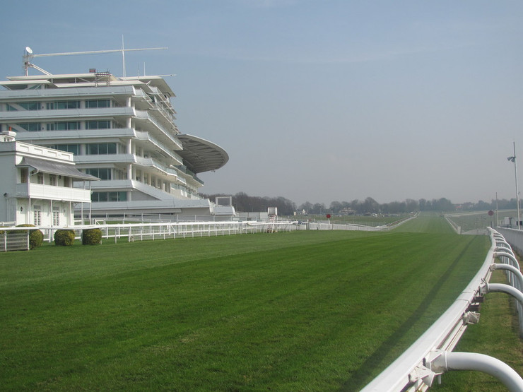 Epsom Racecourse Stands and Home Straight