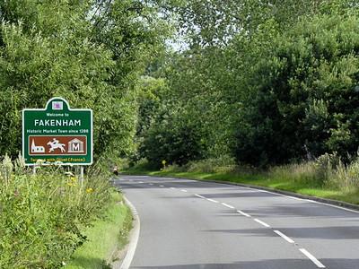 Fakenham Road Sign