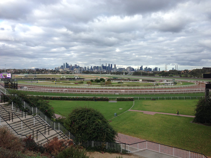 Flemington Racecourse Towards Central Melbourne