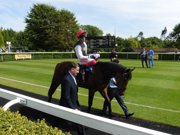 Frankie Dettori in the Goodwood Parade Ring