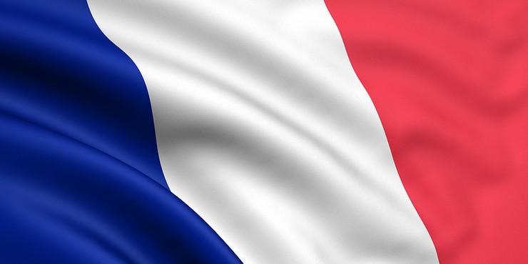 French Flag Rippled