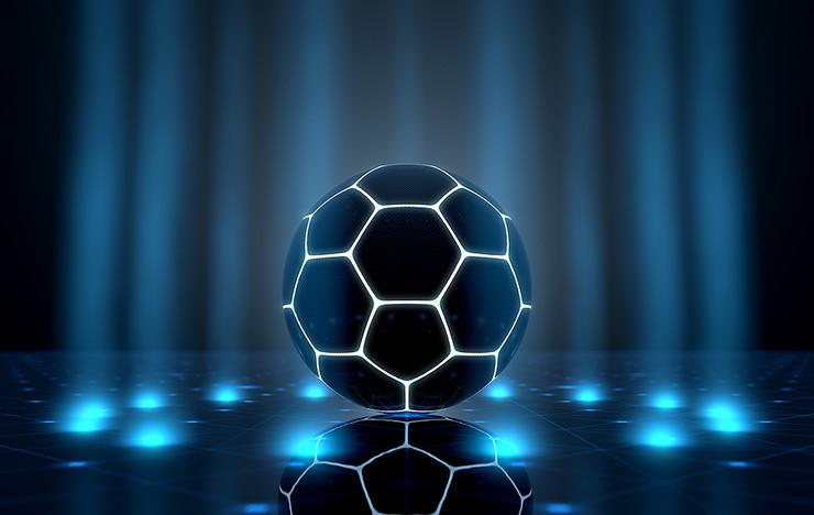 Futuristic Neon Football