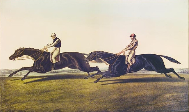 Painting of the Great Match by John F Herring Sr