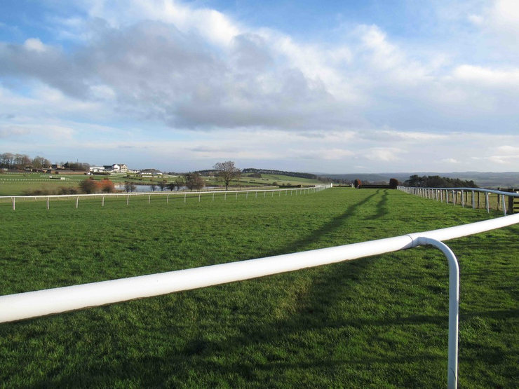 Hexham Racecourse from the Rails