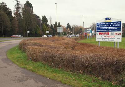 Leicester Racecourse Sign