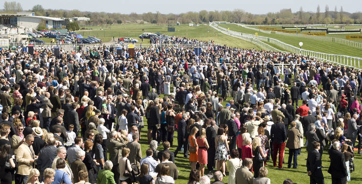 Newbury Racecourse Crowd
