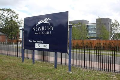 Newbury Racecourse Sign