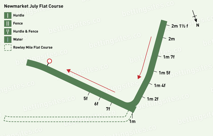Newmarket July Flat Course Map