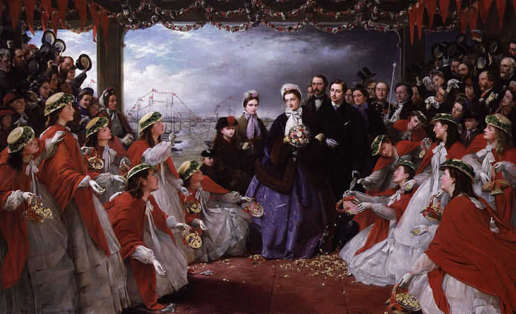 Painting Named The Landing of HRH The Princess Alexandra at Gravesend by Henry Nelson O'Neil