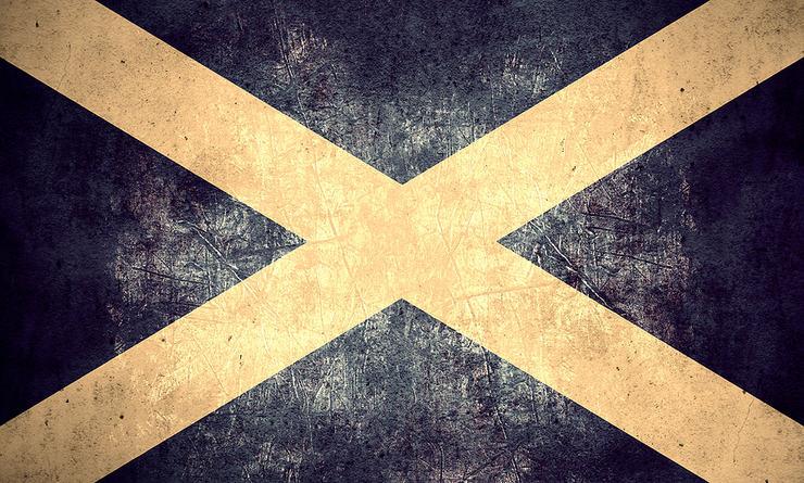 Vintage Effect Scottish Flag