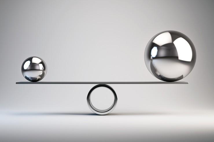 Silver Metallic Balance