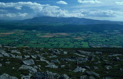 View From Slievenamon in County Tipperary