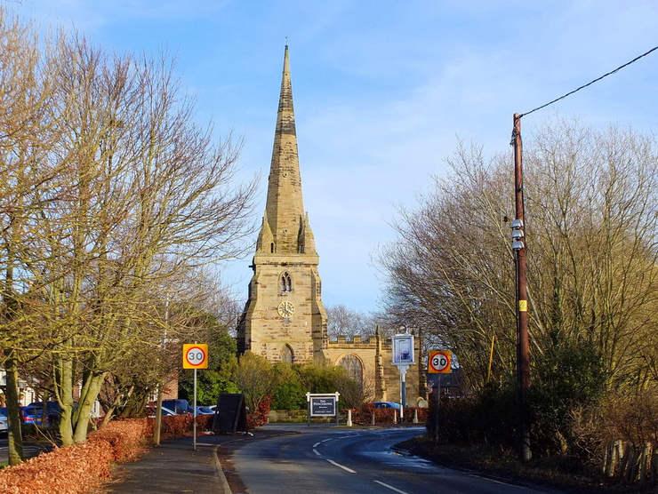 St Helen's Church in Sefton, Merseyside