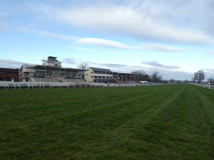 Taunton Racecourse Grandstands and Home Straight
