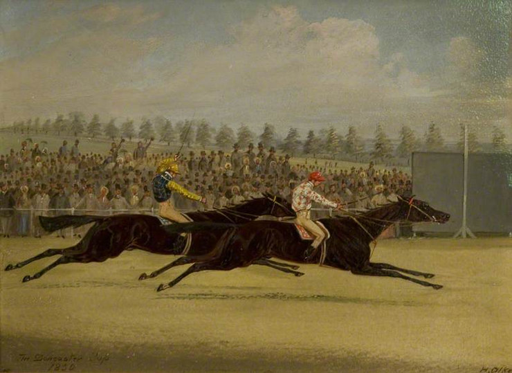 The 1850 Doncaster Cup by Henry Thomas Alken