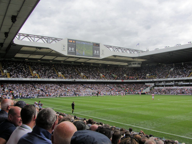 Tottenham Hotspur Match at Old White Hart Lane