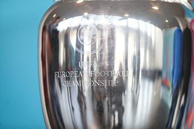 UEFA European Championship Trophy Close Up