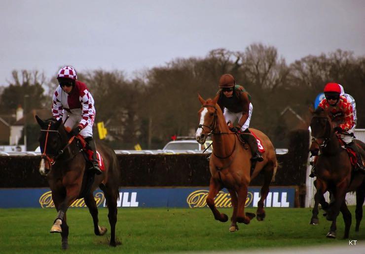 Hurdle with three jockeys